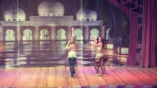 Танец в стиле шоу-беллиданс, выступает дуэт Екатерина  и Ксения.