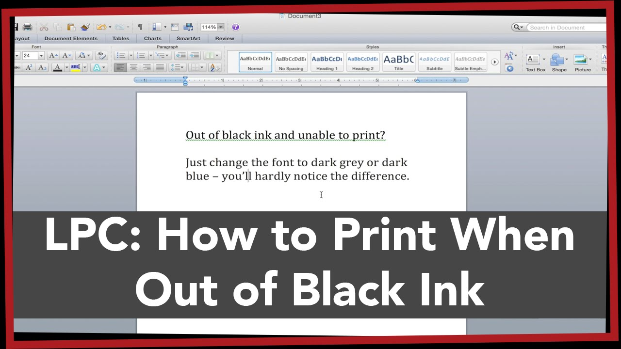 LPC How To Print Without Black Ink