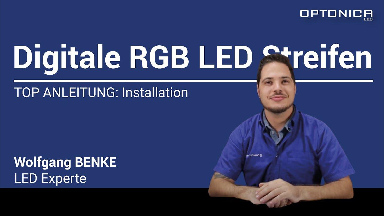 Digitale RGB LED-Streifen - Installation / Deutsch