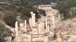 Ephesus I climbed over ledge to get better view to make better films pictures
