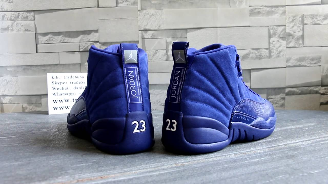 511bf5c1ac9d ... FEET  Air Jordan 12 Deep Royal Blue HD Review From Trade666a.cn ...