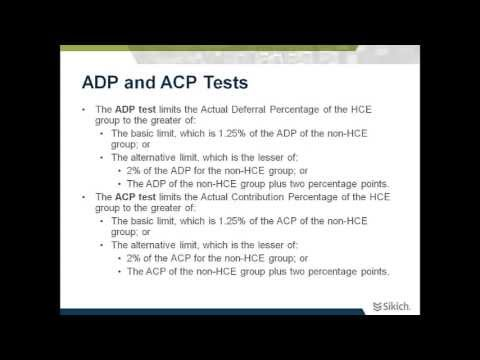 Nondiscrimination Test Reports | ADP and ACP Tests | Sikich LLP