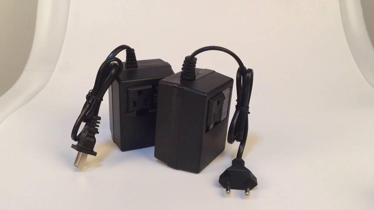 200W AC 220V to 110V Step Down Voltage Transformer Convert Travel ...