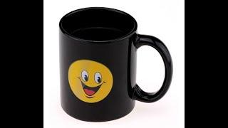 Чашка с терморисунком SMILE. Прикольные чашки оптом. Посуда оптом