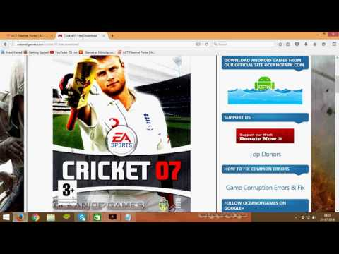 Cricket 2008 Game Free Download