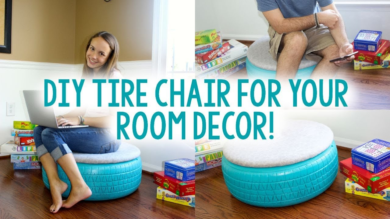 Diy tire chair tumblr inspired tanner courtney youtube for Diy tire chair