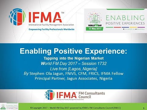 WFMD1732  Enabling Positive Experience  tapping into the Nigerian Market–Stephen Ola Jagun, Nigeria