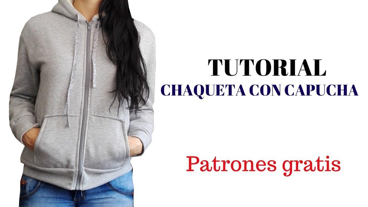 DIY Como hacer una chaqueta con capucha para mujer - YouTube