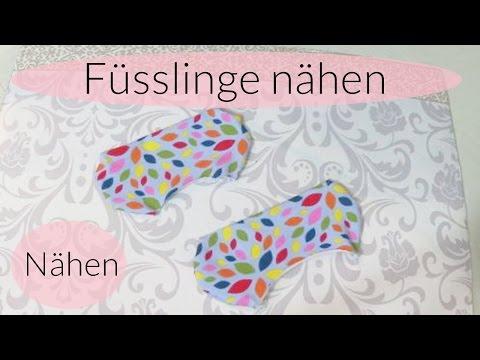 Füsslinge nähen I Socken nähen I Schnittmuster selber machen I Nähanleitung I Deutsch – Finola
