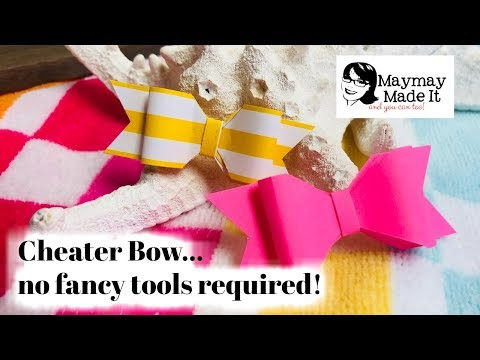 Easy Peasy Cheater Paper Bow No Fancy Tools Needed