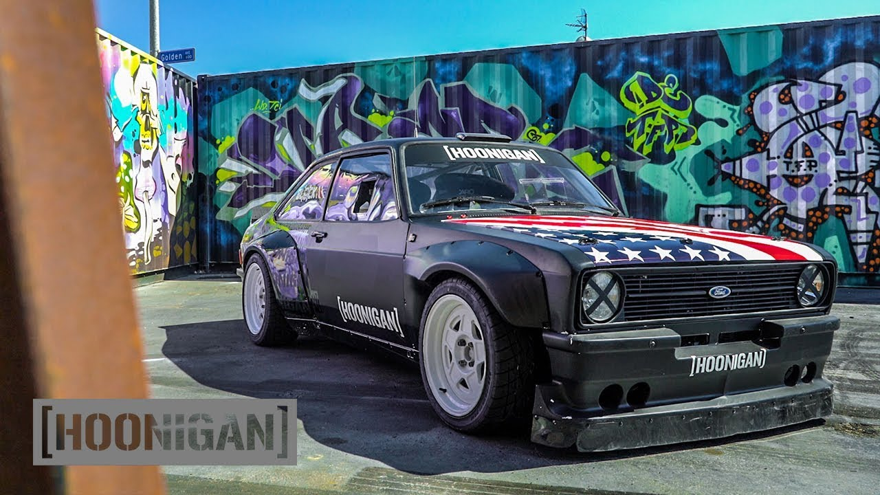 Hoonigan Escort >> [HOONIGAN] DT 145: Ken Block's 9000rpm Escort MK2 Gymkhana Car - YouTube