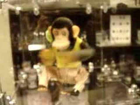 Vintage Bandai Musical Jolly Chimp Monkey Toy