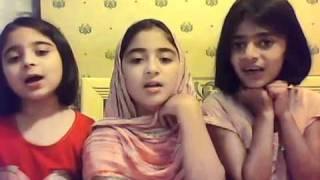 Little girls reciting a beautiful nazam (poem) - ISLAM Ahmadiyya