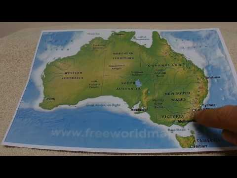 ASMR - Australia - Australian Accent - Whispering Key Facts about Australia, Weather, Population...