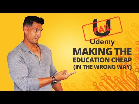 Udemy: How They're Making Education CHEAP (In The Wrong Way)