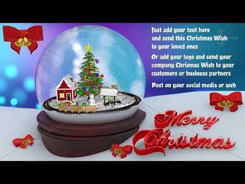 Holly Jolly melody and snow globe music box Christmas wish.