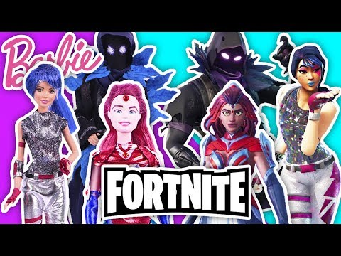 ⚔️ FORTNITE by EPIC GAMES 🛡BARBIE & KEN Customized dolls- Toy Transformations!