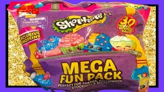 Unboxing And Review Of 2018 New Shopkins Mega Fun Pack 30 Surprise Blind Bags From Costco Part 1