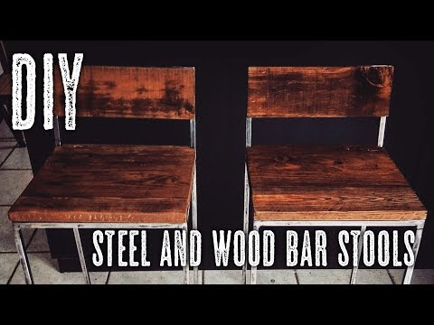 DIY Steel & Wood bar stools