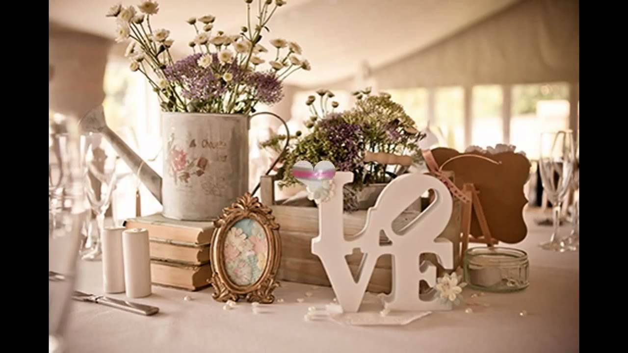 Tendencias en decoraci n de mesas para bodas youtube - Decoracion para bodas vintage ...