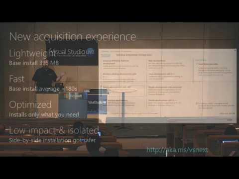 Visual Studio Live! Redmond 2016 The Future of Visual Studio 15