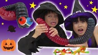 巨大な虫グミ 魔女の料理 ハロウィン こうくんねみちゃん thumbnail