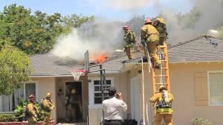 House Fire in Sunland, California