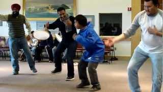 Dancing with Eskimos in Nome, Alaska, USA