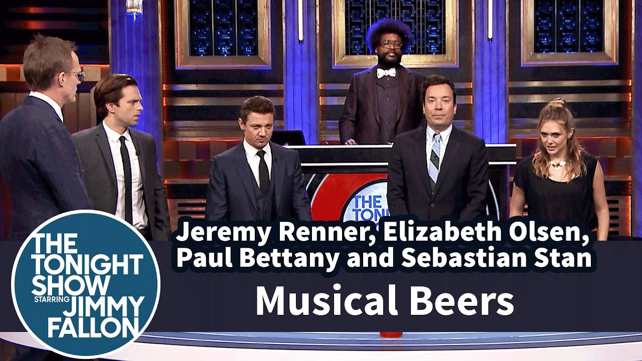 Musical chairs gif - Musical Beers With Jeremy Renner Elizabeth Olsen Paul Bettany And Sebastian Stan Youtube