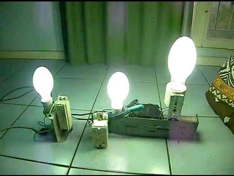 Lampes vapeur de mercure 80w 125w 250w eclairage for Ampoule lampadaire exterieur