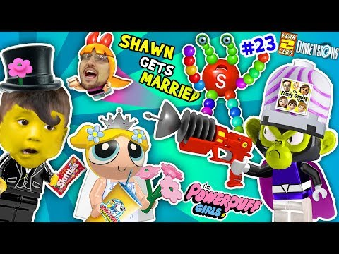 Thumbnail: POWERPUFF GIRLS MARRY BABY SHAWN! FGTEEV Lego Dimensions Giant Colors Skittles Monkey (Year 3 #23)
