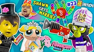 POWERPUFF GIRLS MARRY BABY SHAWN!  FGTEEV Lego Dimensions Giant Colors Skittles Monkey (Year 3 #23)