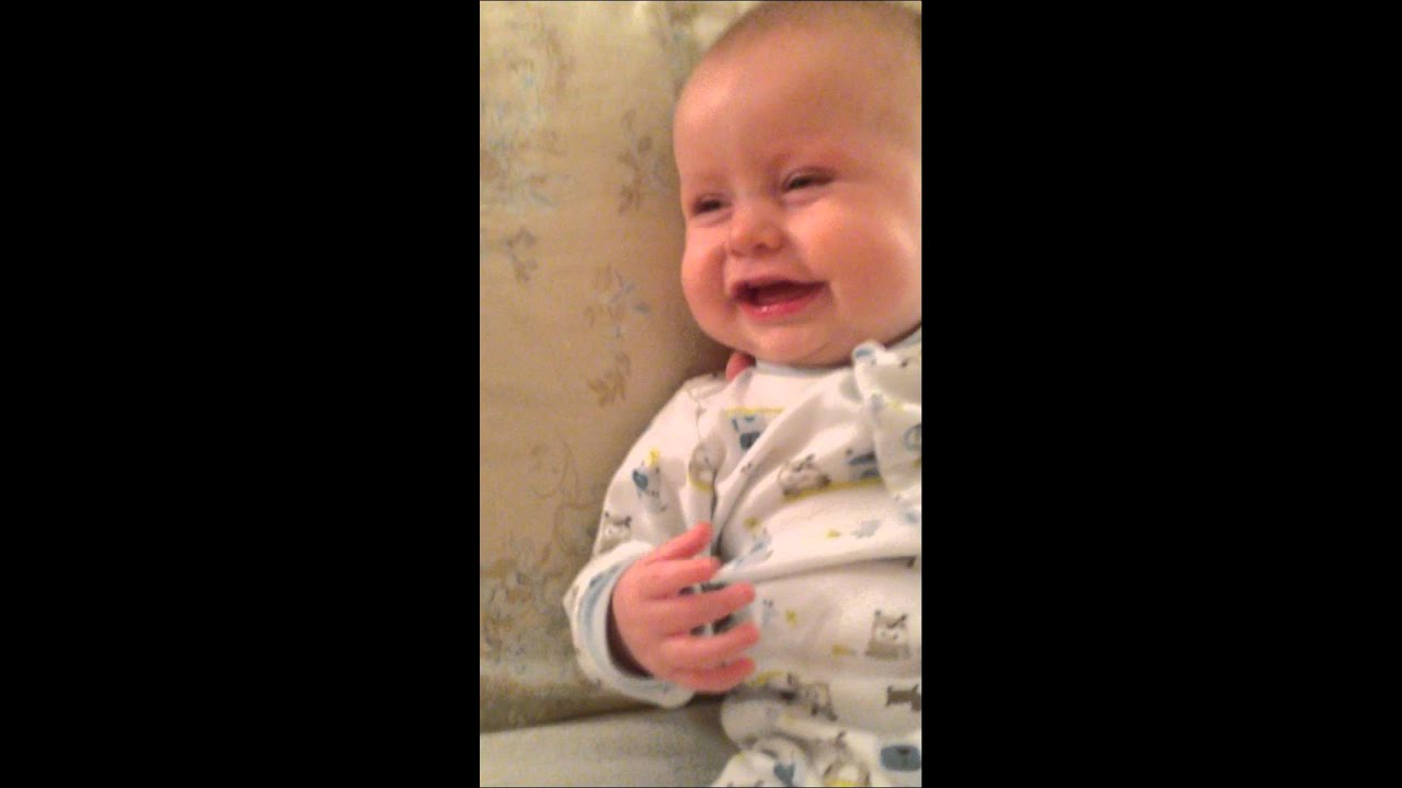 how to make a baby laugh hysterically