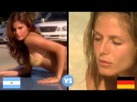 Models. Swim Daily. Argentina vs Germany.
