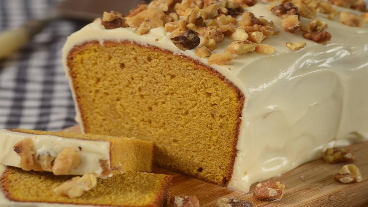 Pumpkin Pound Cake Recipe Demonstration Joyofbaking Com Youtube
