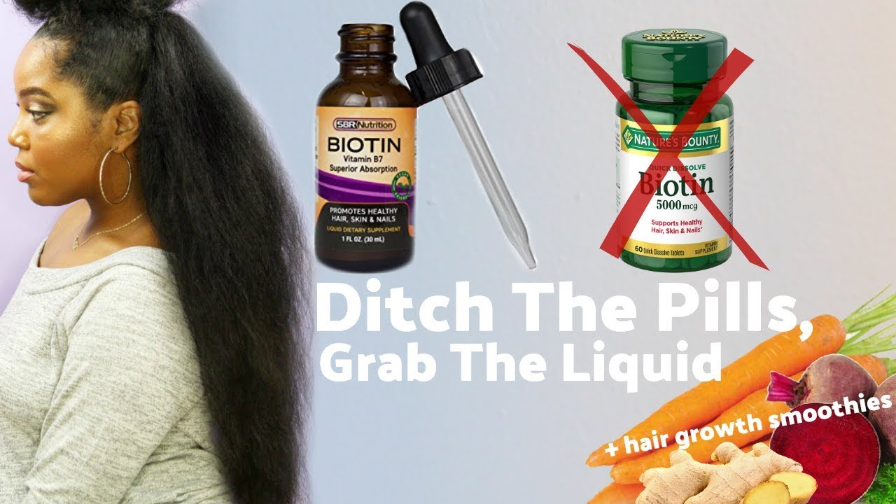 Get Rapid Natural Hair Growth Why Liquid Biotin Is Key