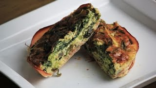 How To Make A Ham Crusted Vegetable Quiche (recipe Request) ~ Cooking With Mira