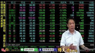理周TV-20180705 盤後-楊天迪 股票會說話/大盤落底徵兆:權值股回穩、績優股止跌 從價值出發 用成長畫夢