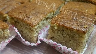 banana cake on stove