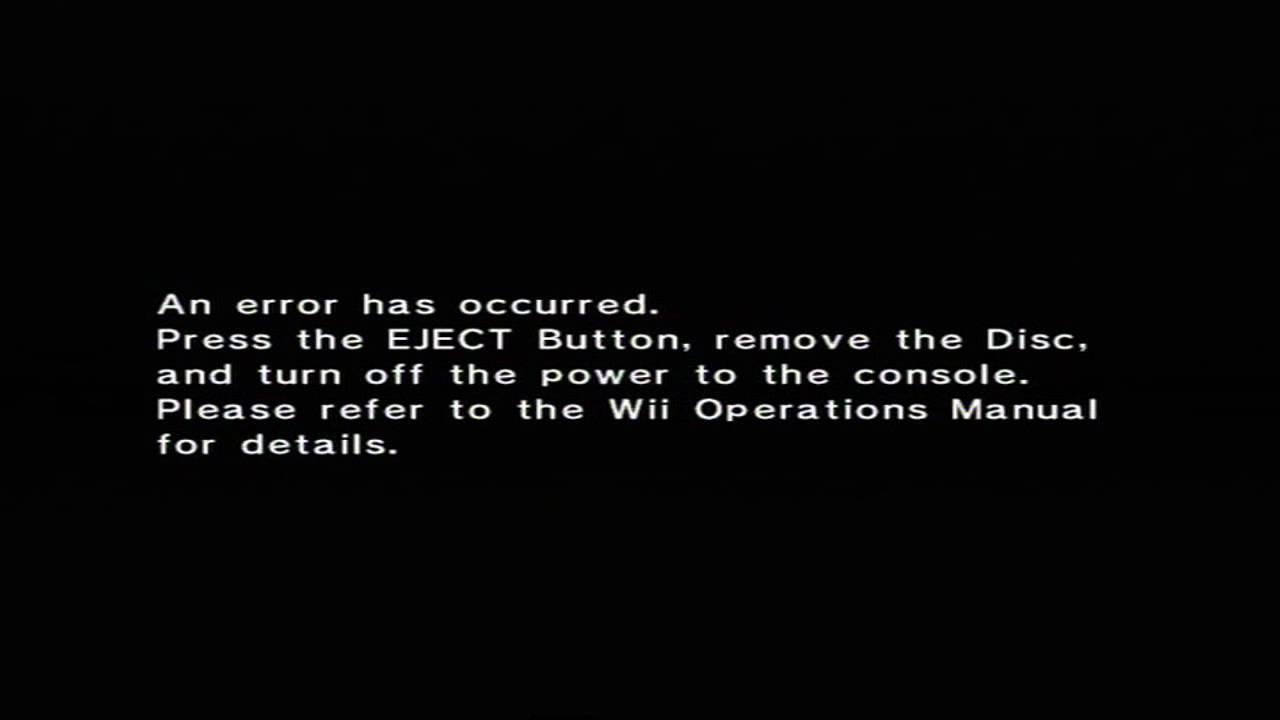 rip wii youtube rh youtube com Nintendo Wii U Error Code Wii Error Message For
