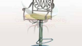 Bar Stools Outdoor Barstool In Teak And Metal For Garden And Patio.