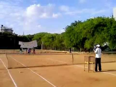 Saif Academy Tennis Training at SAT Sports J.P.Nagar Bangalore.3gp