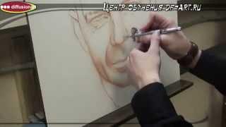 Рисуем портрет Брюса Уиллиса часть 2 Diffusionart
