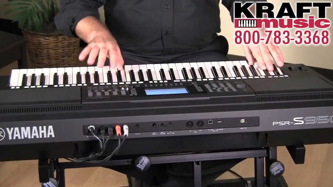 kraft music yamaha psr s950 arranger workstation demo. Black Bedroom Furniture Sets. Home Design Ideas