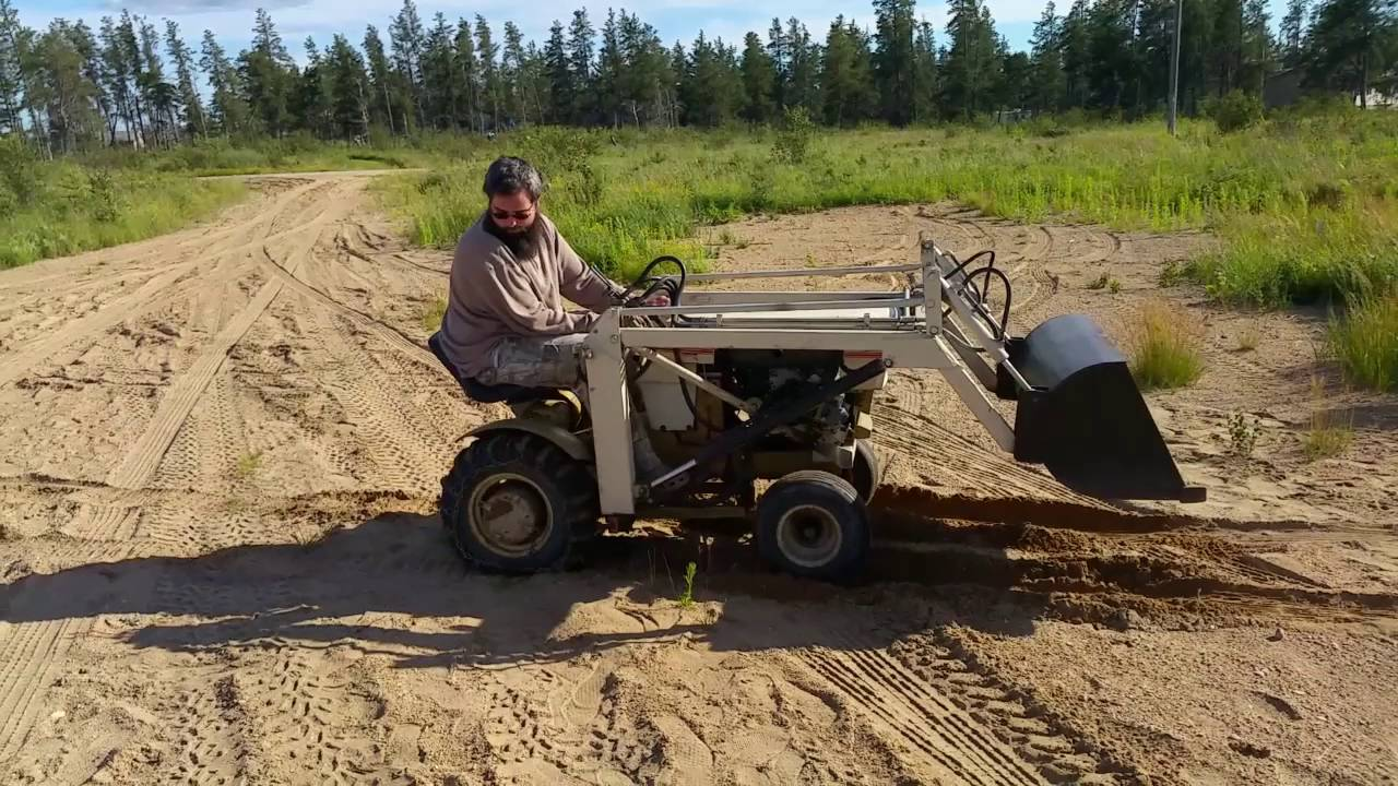 sears loader is useless at the new house sears garden tractor youtube - Garden Tractor Loader