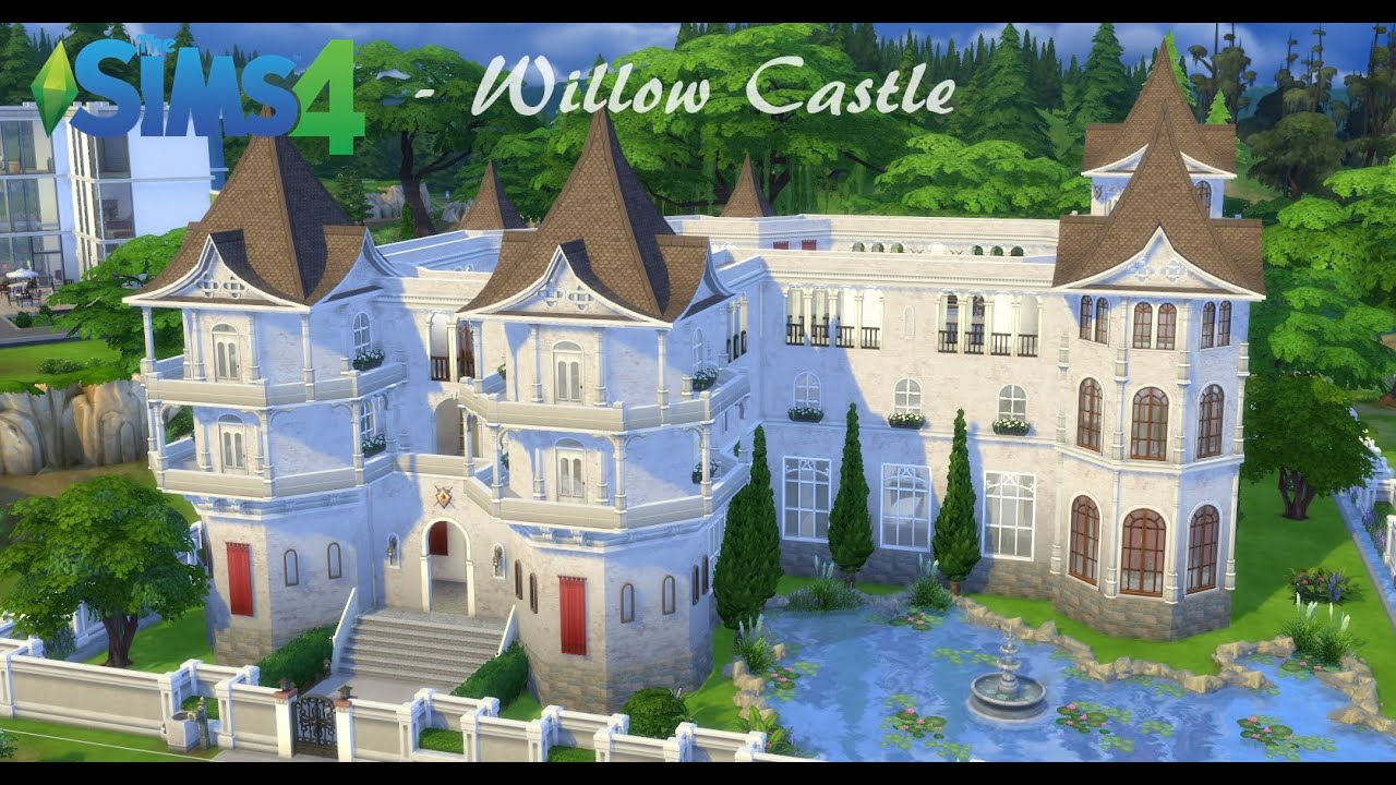 sims 4 building willow castle part 1 youtube sims 4 building willow castle part 1