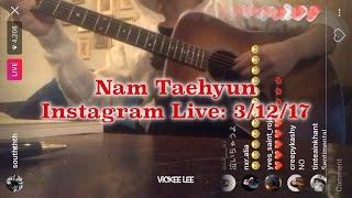 NAM TAEHYUN ~ Winner SENTIMENTAL Instagram LIVE