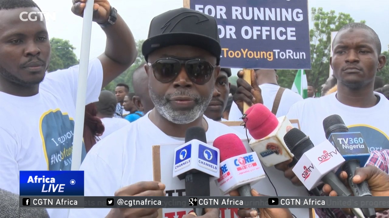 Nigeria Political Participation: Youths protest against age restrictions for elective offices