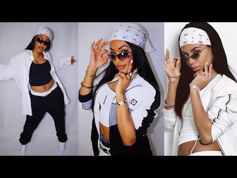 Aaliyah Makeup Hair and Outfits