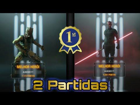 Download Gameplay Star Wars Battlefront 2 | Modo Confronto de Heróis | Duas partidas do lado sombrio